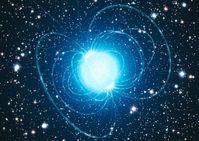 Künstlerische Darstellung des Magnetars in dem außergewöhnlichen Sternhaufen Westerlund 1 Abbildung: ESO/L. Calçada