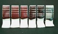 Testbeschichtungen mit Nanoteilchen-Glasuren.
