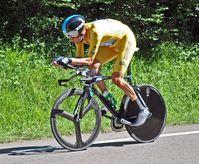 Bradley Wiggins auf dem Weg zu seinem ersten Tour-de-France-Etappensieg beim Einzelzeitfahren auf der 9. Etappe 2012.