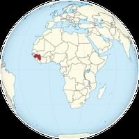 Guinea auf der Welt