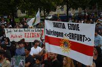 Rund 11.000 Menschen demonstrierten am 16. August 2014 in Hannover für Hilfe gegen den IS-Terror