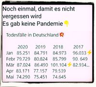 Dei Sterbestatistik Deutschlands zeigt: Es gab in 2020 keine tötliche Pandämie (Symbolbild)