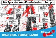 Umstrittenes AfD Werbemotiv