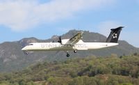 De Havilland DHC-8-400 der Austrian Airlines in Star-Alliance-Sonderbemalung