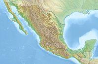 Physische Positionskarte von Mexiko