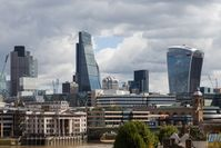 Skyline der City of London, 2014