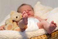 Schlafendes Baby (Symbolbild)