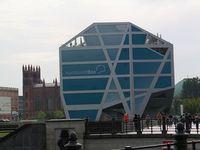 Berliner Stadtschloss: Die Humboldt-Box auf dem Schlossplatz soll über den geplanten Neubau des Berliner Schlosses informieren. Bild: ExtremNews