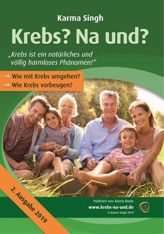 "Buchcover ""Krebs? Na und?"" von Karma Singh"