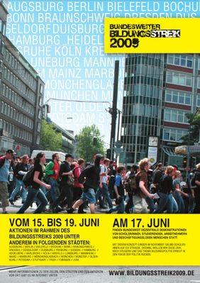 """Plakat zur Aktion """"Bildungsstreik 2009"""""""