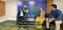 Markus Haintz und Vicky Richter sprachen exklusiv mit Brasiliens Präsidenten Jair Bolsonaro. Bild: Screenshot: Markus Haintz/WB/Eigenes Werk