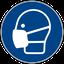 Gebotszeichen M016: Schutzmaske benutzen