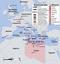 Karte zum internationalen Militäreinsatz gegen Libyen 2011 (Symbolbild)