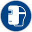 """Piktogramm """"Schweißmaske benutzen"""" nach DIN EN ISO 7010"""