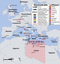 Karte zum internationalen völkerrechtswidrigen Militäreinsatz gegen Libyen 2011 (Symbolbild)