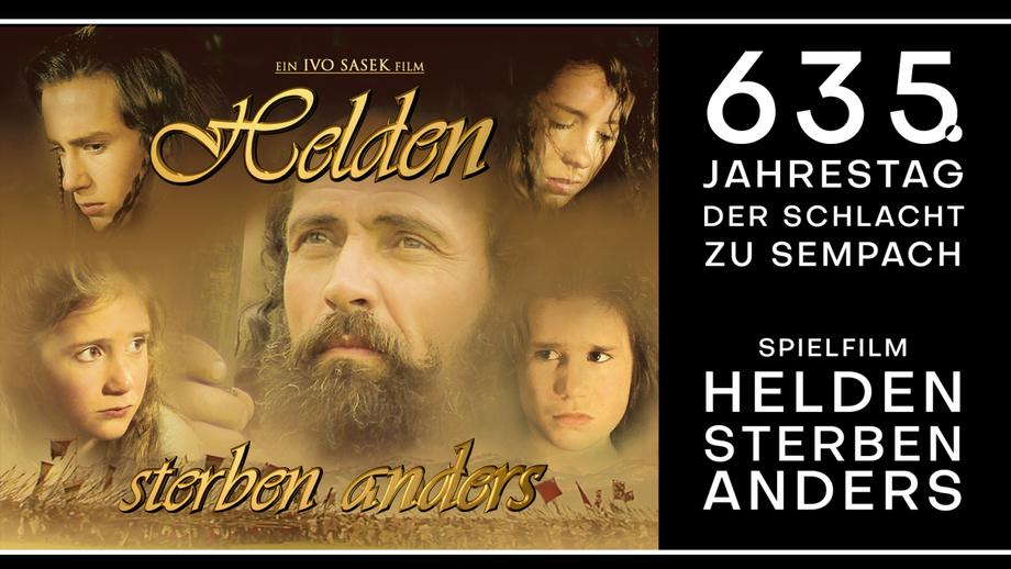 """Bild: Screenshot Video: """"635. Jahrestag der Schlacht zu Sempach – Spielfilm """"Helden sterben anders"""""""" (www.kla.tv/19200) / Eigenes Werk"""