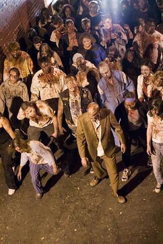 Statisten eines Zombie-Films