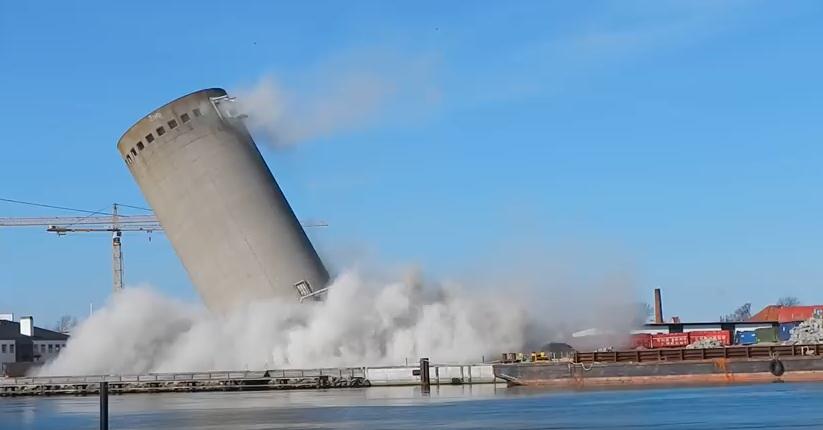 """Bild: Screenshot aus dem YouTube-Video """"Sprængning i Vordingborg"""""""