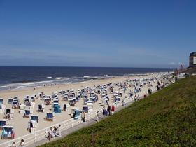 Strand vor Westerland auf Sylt. Bild: Uwe Weber / PIXELIO