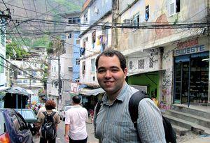 Tourist in der Favela