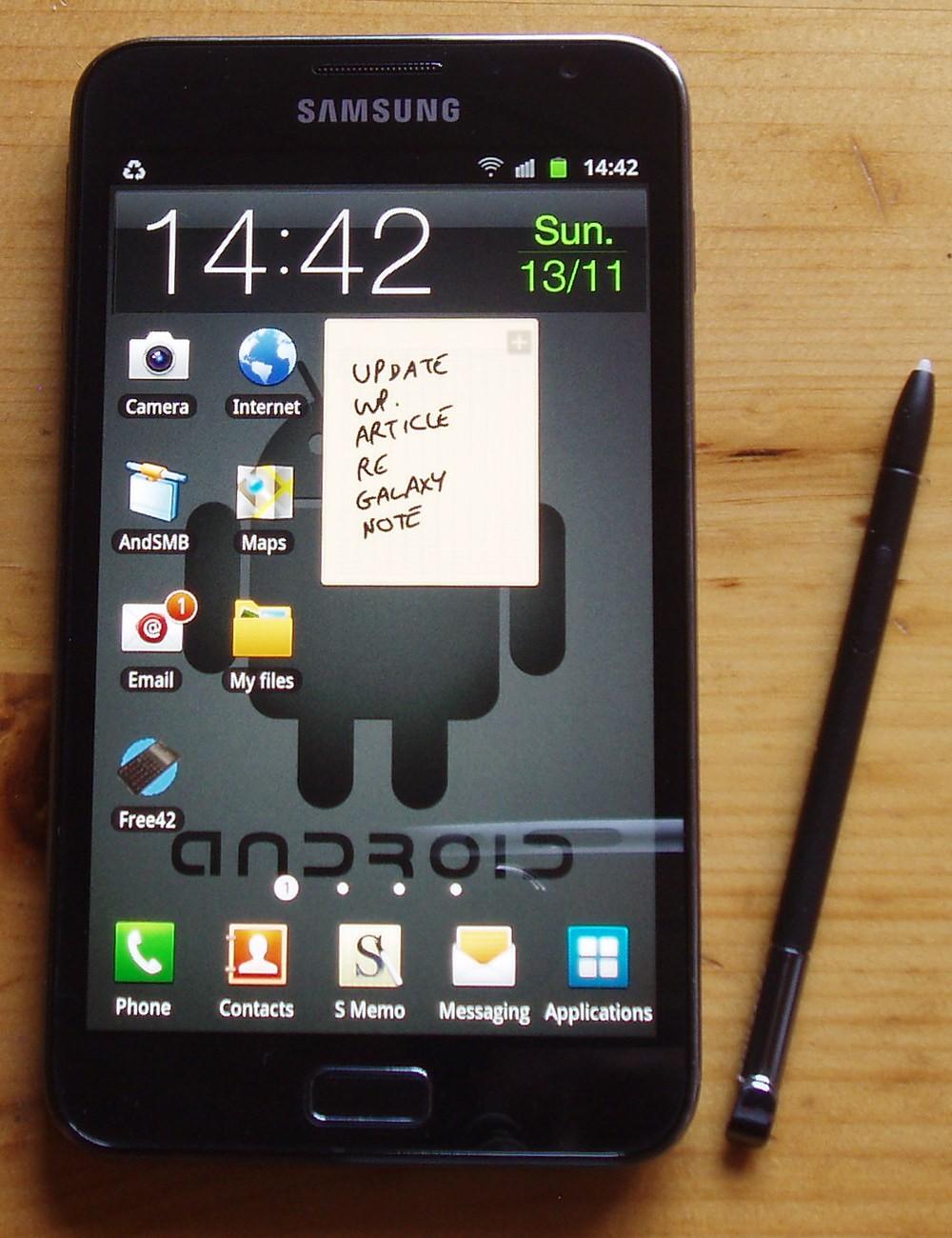 Das alte Samsung Galaxy Note