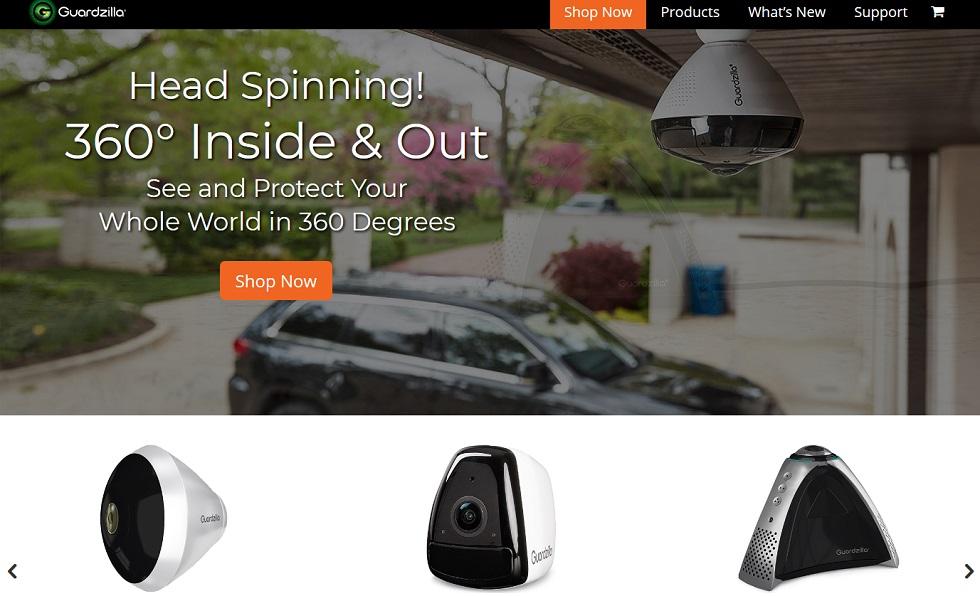 Bild: Screenshot der Webseite von Guardzilla