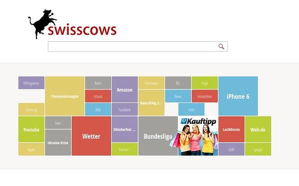 Screenshot der Webseite swisscows.ch