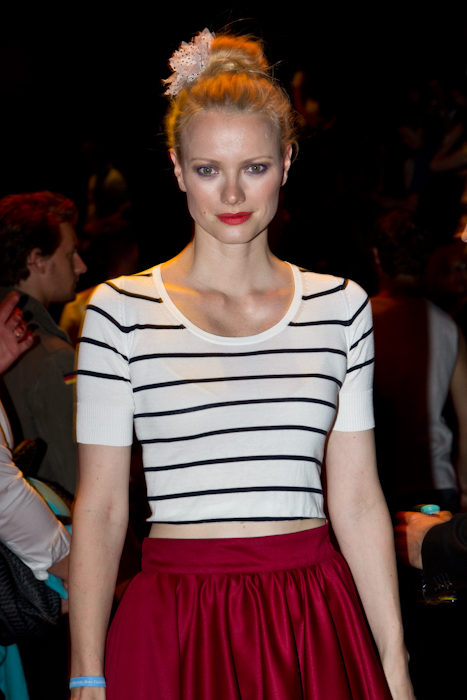 Franziska Knuppe auf der Fashion Week in Berlin 2012