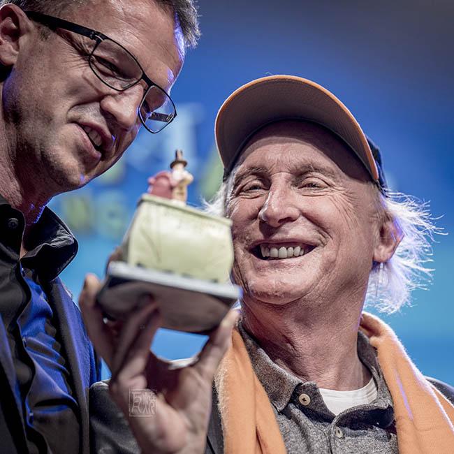 Otto Waalkes und Fredi Bobic bei der Sondermann Preisverleihung in Frankfurt a. Main,(2018)