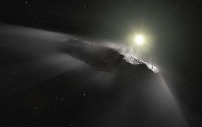 Bild: CC BY 2.0 / Hubble ESA / Artist's impression of the interstellar asteroid `Oumuamua