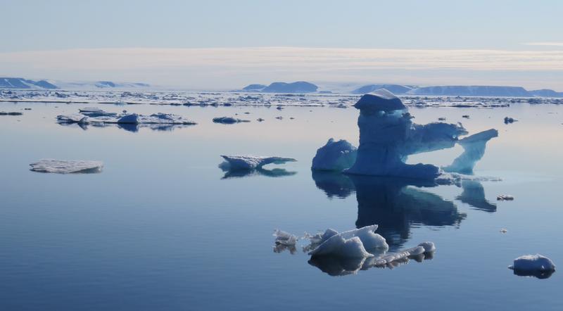 Schmelzendes Eis vor Grönland. Quelle: Foto: R. Spielhagen. (idw)