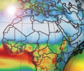 Klimakarte: Viren im Meer setzen Aerosol frei. Bild: isac.cnr.it