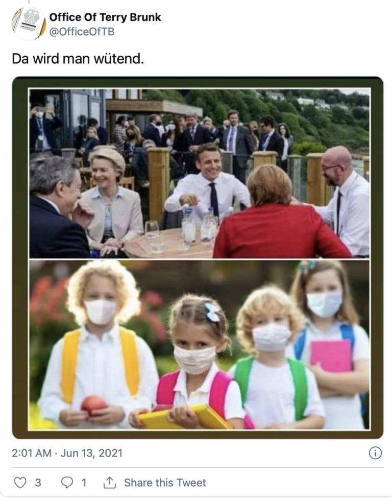 Treffen der Führer der G7 im Juni 2021 im Vergleich zu normalen Bürgern (Symbolbild)