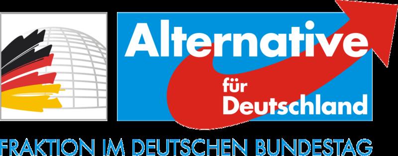 Logo der AfD (Alternative für Deutschland)-Bundestagsfraktion