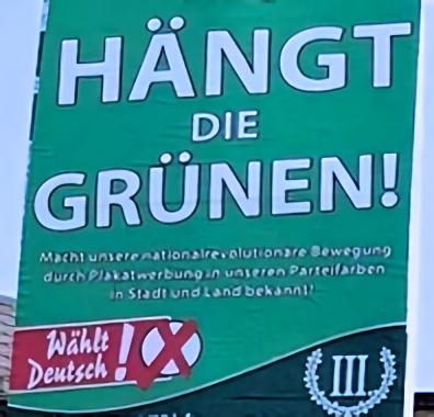 Wahlplakat der rechtsradikalen Partei Der III. Weg (Symbolbild)