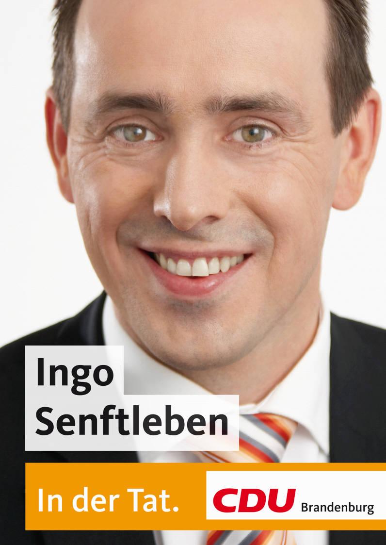 Ingo Senftleben auf einem Wahlplakat zur Landtagswahl 2009