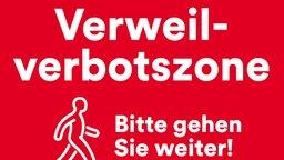 Schild der Verweilverbotszone in Düsseldorf Bild: UM / Eigenes Werk
