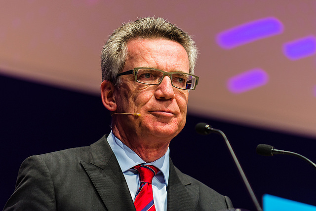 Thomas de Maizière Bild: NEXT Berlin - Image by Dan Taylor/Heisenberg Media - www.heisenbergmedia.com/, on Flickr CC BY-SA 2.0