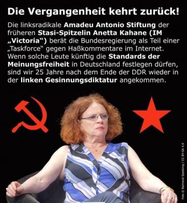 Die Vergangenheit kehrt zurück: Linke Antonio-Amadeu-Stiftung beschäftigt heute noch eine Stasi-Mitarbeiterin aus DDR Zeiten, die die Bundesregierung, Schulen und Kindergärten berät.