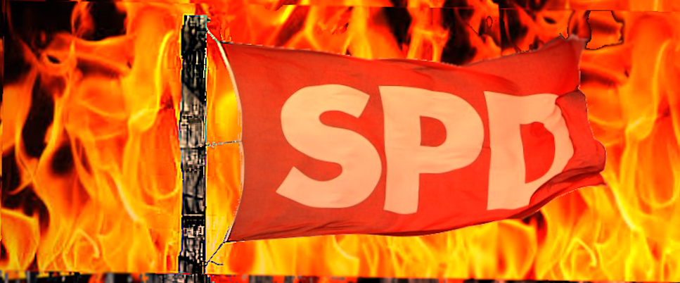SPD Flagge (Symbolbild)
