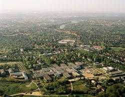 Luftaufnahme des  Universitätsklinikum Schleswig-Holstein (UKSH), Campus Lübeck
