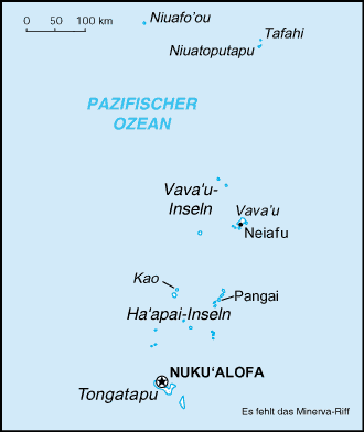 Inselgruppen Tongas