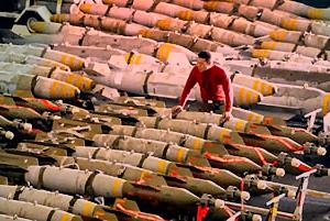 Ein großes Bombenlager: Die Regierung hat leider keine Ahnung wohin all die Waffen verschwunden sind...(Symbolbild)