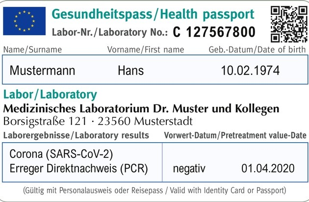 """Mediaform Informationssysteme: Gesundheitspass Bild: """"obs/Mediaform Informationssysteme GmbH"""""""