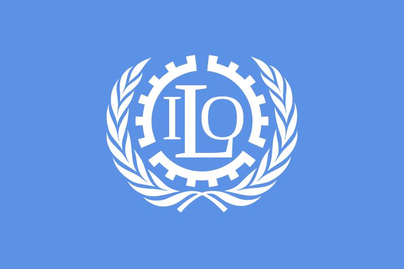 Flagge der Internationalen Arbeitsorganisation