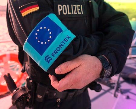 Polizei als Frontex Truppe. (Symbolbild)