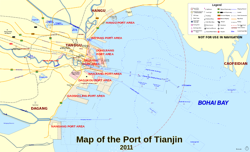 Karte Vom Hafen Von Tianjin Extremnews Die Etwas