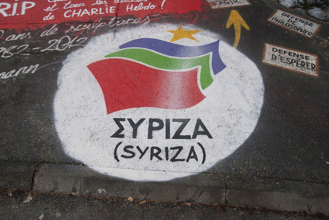 Syriza Logo Bild: thierry ehrmann, on Flickr CC BY-SA 2.0