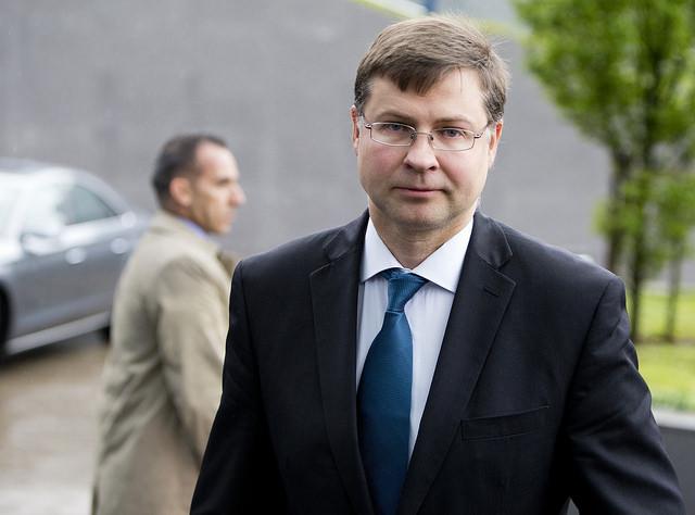 Valdis Dombrovskis Bild: EU Council Eurozone, on Flickr CC BY-SA 2.0