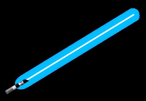 Das Lichtschwert (engl.: lightsaber; wörtliche Übersetzung: Lichtsäbel, in der deutschen Übersetzung vereinzelt auch Laserschwert genannt)
